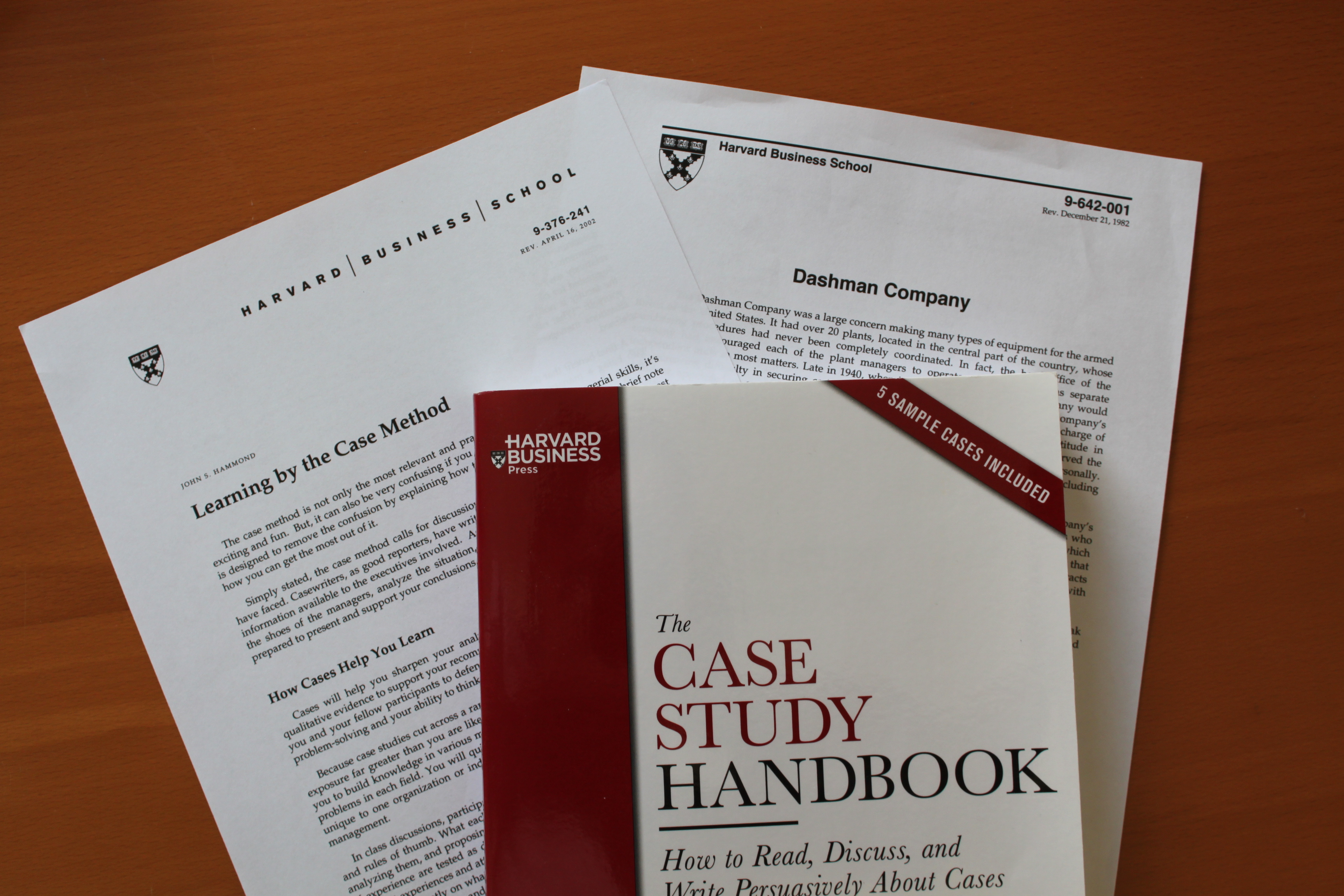 writing a harvard business school case study Teaching students to write a case study when faculty members at harvard business school responded to a lack of textbooks in the read about writing case.