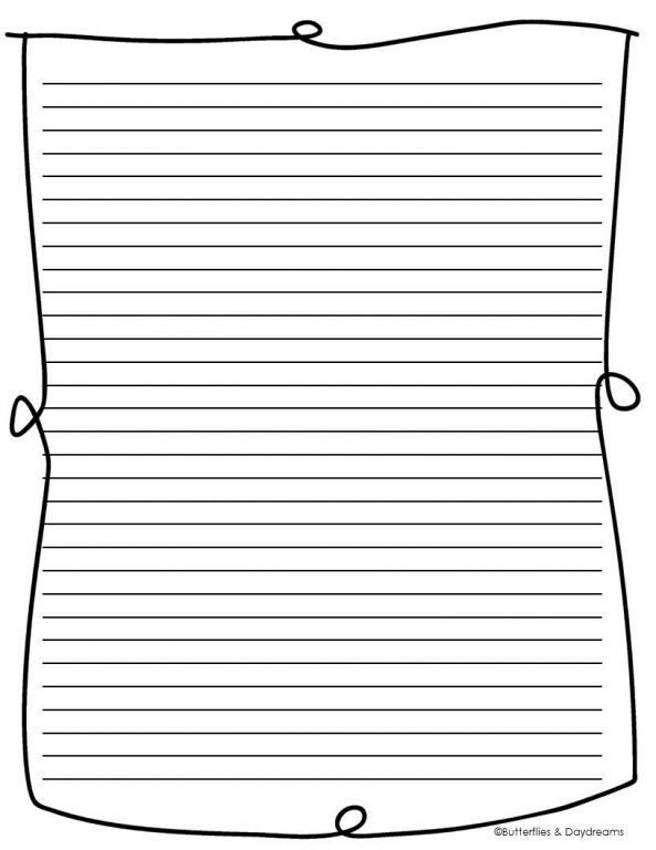 Third grade writing paper