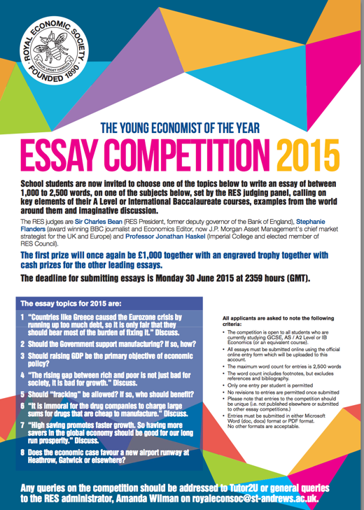 Teen essay competition